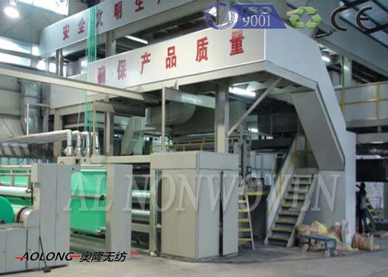 Profesional SMS Spunbond PP Non Woven Fabric Machine Untuk Operation Suit 0 ~ 350m / min