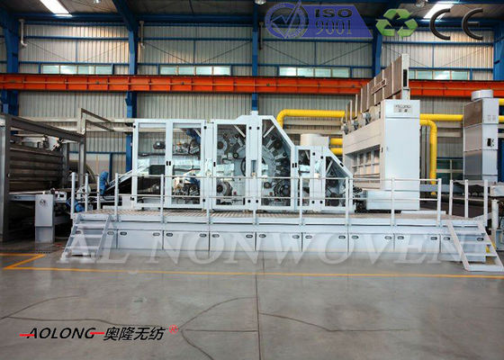 Stiff Waddings Dan Bebas Lemak / Thermal Bonded Waddings Carding Machine Lebar 2500MM